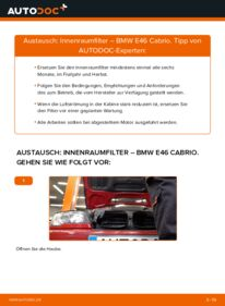 Wie der Wechsel durchführt wird: Innenraumfilter 330Ci 3.0 BMW e46 Cabrio tauschen
