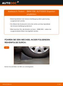 Wie der Wechsel durchführt wird: Federn 320d 2.0 BMW E90 tauschen