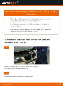 Wie der Wechsel durchführt wird: Bremsbeläge 320d 2.0 BMW E90 tauschen