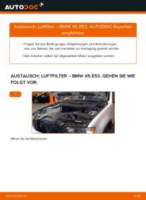 Wie der Wechsel durchführt wird: Luftfilter 3.0 d BMW E53 tauschen