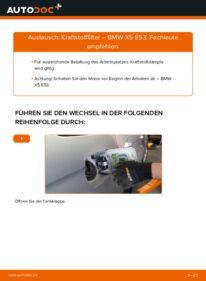 Wie der Wechsel durchführt wird: Kraftstofffilter 3.0 d BMW E53 tauschen