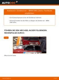 Wie der Wechsel durchführt wird: Zündkerzen 330Ci 3.0 BMW e46 Cabrio tauschen