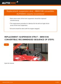 How to carry out replacement: Shock Absorber on 330Ci 3.0 BMW 3 Convertible (E46)