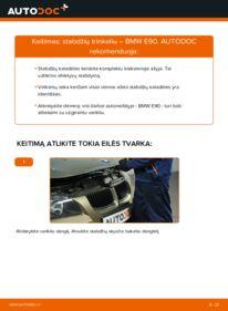 Kaip atlikti keitimą: 320d 2.0 BMW E90 Stabdžių Kaladėlės