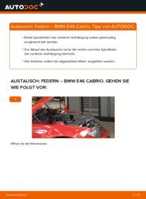Wie der Wechsel durchführt wird: Federn 330Ci 3.0 BMW e46 Cabrio tauschen