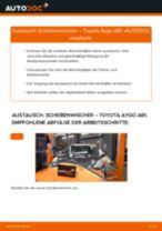 TOYOTA AYGO (WNB1_, KGB1_) Scheibenwischerblätter: Kostenfreies Online-Tutorial zum Austausch