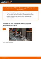 Wann Luftfiltereinsatz austauschen: PDF Anleitung für TOYOTA AYGO (WNB1_, KGB1_)