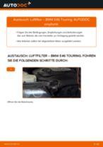 Hochwertige Kfz-Reparaturanweisung für Ersatz Motorluftfilter BMW