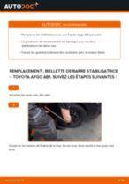 Comment changer : biellette de barre stabilisatrice avant sur Toyota Aygo AB1 - Guide de remplacement