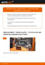 Comment changer : essuie-glaces avant sur Toyota Aygo AB1 - Guide de remplacement