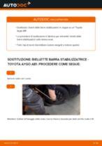 Come cambiare biellette barra stabilizzatrice della parte anteriore su Toyota Aygo AB1 - Guida alla sostituzione