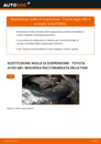 Come cambiare molle di sospensione della parte anteriore su Toyota Aygo AB1 - Guida alla sostituzione