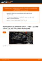 Changing Anti Roll Bar Bushes HONDA ACCORD: workshop manual