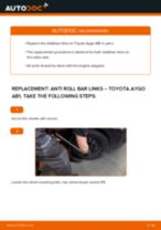 Fitting Stabilizer bar link TOYOTA AYGO (WNB1_, KGB1_) - step-by-step tutorial
