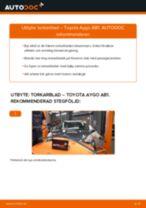 PDF guide för byta: Vindrutetorkare TOYOTA AYGO (WNB1_, KGB1_) bak och fram