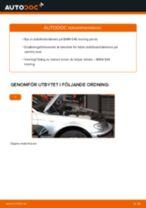 Byta stabilisatorstag fram på BMW E46 touring – utbytesguide