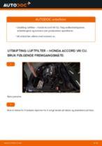 Mekanikerens anbefalinger om bytte av HONDA Honda Accord VIII CU 2.2 i-DTEC (CU3) Oljefilter