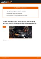 Mekanikerens anbefalinger om bytte av HONDA Honda Accord VIII CU 2.2 i-DTEC (CU3) Fjærbenslager