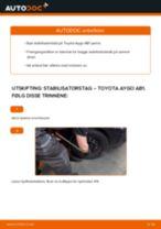 Mekanikerens anbefalinger om bytte av TOYOTA Toyota Aygo ab1 1.4 HDi Bremseskiver