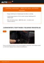Slik bytter du støtdemper bak på en BMW E46 cabrio – veiledning