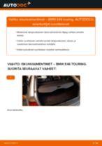 Kuinka vaihtaa iskunvaimentimet taakse BMW E46 touring-autoon – vaihto-ohje
