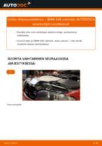 Kuinka vaihtaa ilmansuodattimen BMW E46 cabrio-autoon – vaihto-ohje