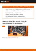 Kdaj zamenjati Metlice brisalcev TOYOTA AYGO (WNB1_, KGB1_): pdf navodila