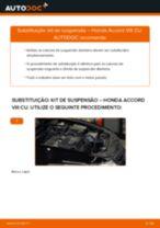 Manual de oficina para Honda Accord Carrinha mk8