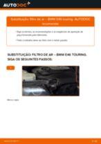 Como mudar filtro de ar em BMW E46 touring - guia de substituição
