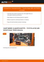 Pesurikumm vahetus: pdf juhend TOYOTA AYGO
