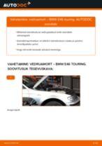 Paigaldus Amort BMW 3 Touring (E46) - samm-sammuline käsiraamatute
