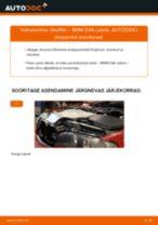Millal vahetada Õhufilter BMW 3 Convertible (E46): käsiraamat pdf