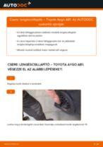 TOYOTA AYGO (WNB1_, KGB1_) Fékdob beszerelése - lépésről-lépésre útmutató