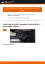 Levegőszűrő-csere BMW E46 touring gépkocsin – Útmutató