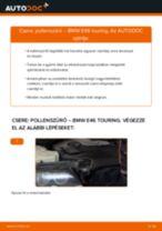 Pollenszűrő-csere BMW E46 touring gépkocsin – Útmutató