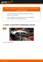 Levegőszűrő-csere BMW E46 cabrio gépkocsin – Útmutató