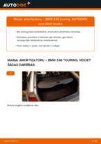 Kā nomainīt: aizmugures amortizatoru BMW E46 touring - nomaiņas ceļvedis
