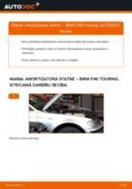 Kā nomainīt: priekšas amortizatora statni BMW E46 touring - nomaiņas ceļvedis