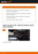 Kā nomainīt: salona gaisa filtru BMW E46 touring - nomaiņas ceļvedis