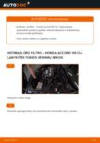 Automechanikų rekomendacijos HONDA Honda Accord VIII CU 2.2 i-DTEC (CU3) Amortizatoriaus Atraminis Guolis keitimui