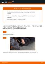 Montavimo Pasukimo trauklė TOYOTA AYGO (WNB1_, KGB1_) - žingsnis po žingsnio instrukcijos