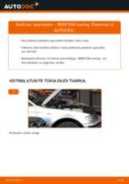 Kaip pakeisti BMW E46 touring spyruoklės: priekis - keitimo instrukcija