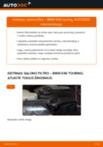 Kaip pakeisti BMW E46 touring salono filtro - keitimo instrukcija