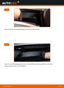 Wie der Wechsel durchführt wird: Innenraumfilter 2.0 i (CU1) Honda Accord VIII CU tauschen