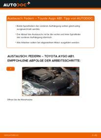 Wie der Wechsel durchführt wird: Federn 1 Toyota Aygo AB1 tauschen