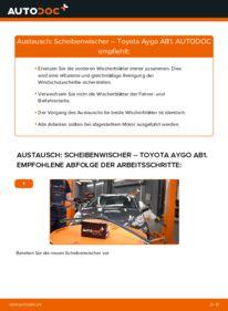 Wie der Wechsel durchführt wird: Scheibenwischer 1 Toyota Aygo AB1 tauschen