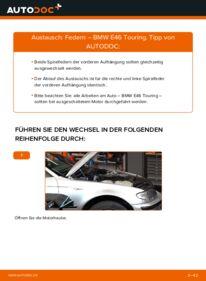 Wie der Wechsel durchführt wird: Federn 320d 2.0 BMW E46 Touring tauschen