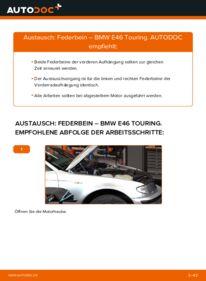 Wie der Wechsel durchführt wird: Stoßdämpfer 320d 2.0 BMW E46 Touring tauschen