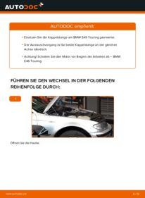 Wie der Wechsel durchführt wird: Koppelstange 320d 2.0 BMW E46 Touring tauschen