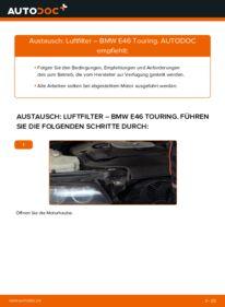 Wie der Wechsel durchführt wird: Luftfilter 320d 2.0 BMW E46 Touring tauschen